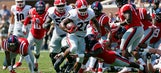 No. 23 Georgia RB Chubb injures ankle against Mississippi