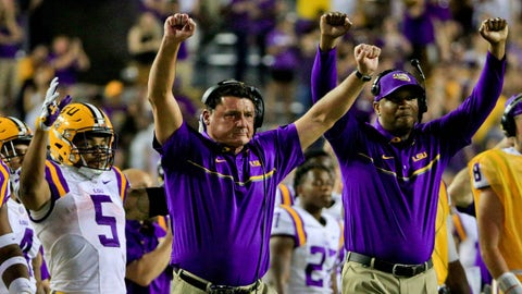 No. 13 LSU (overrated)