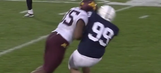 Watch the cheap shot hit on Penn State's kicker that got Minnesota player ejected
