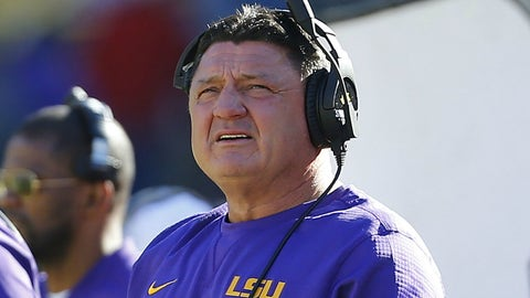 Ed Orgeron had no chance of getting the LSU head coaching job full-time