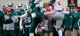 No. 2 Ohio State holds on for 17-16 win over Michigan State