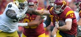 Referee Ron Cherry hurt during Notre Dame-USC game