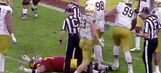 Notre Dame lineman put two despicable cheap shots on USC in blowout loss