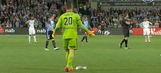 Watch: Soccer game paused so goalkeeper can save injured seagull