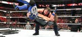 AJ Styles split a huge hole in the back of his pants but retained his world championship
