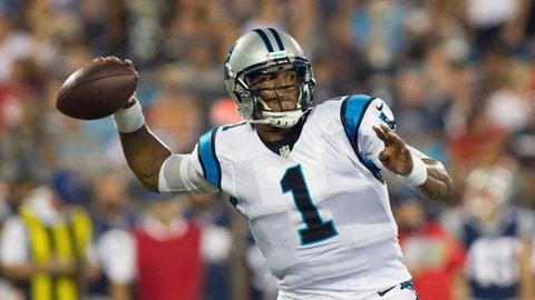 October 1: Carolina Panthers at New England Patriots, 1 p.m. ET