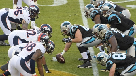 Panthers (-3) vs. BRONCOS [Over/under: 41.5]
