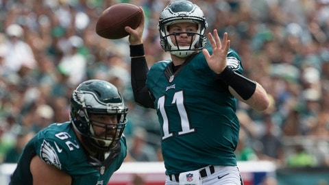 Carson Wentz, QB, Eagles (6th last week)