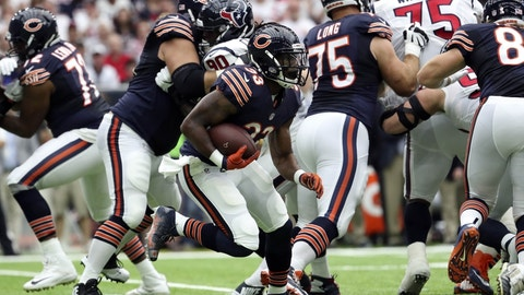 The Chicago Bears rushing attack doesn't go very far at all