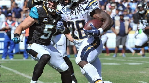 November 12: Los Angeles Chargers at Jacksonville Jaguars, 1 p.m. ET