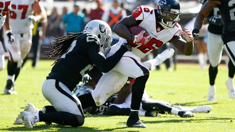 Tevin Coleman has carved out a role in Falcons backfield