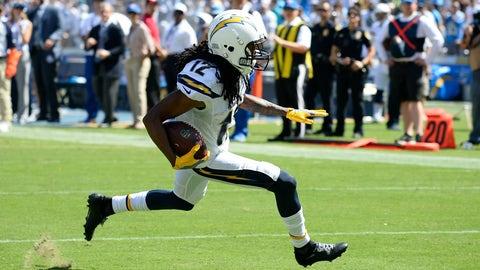 Travis Benjamin, WR, Chargers (knee): Doubtful