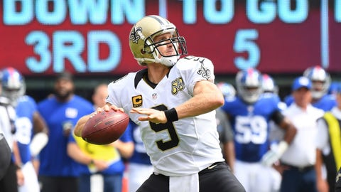 QB Drew Brees, Saints ($7,600)