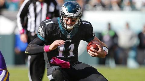 Carson Wentz, QB, Eagles (3rd last week)