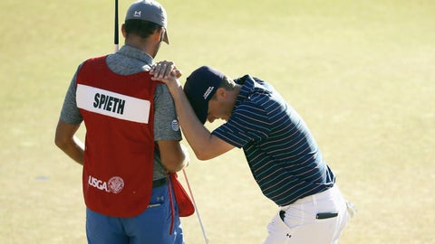 Spieth's caddy, Michael Greller, used to be a sixth-grade math teacher