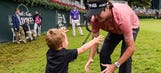 Bubba Watson's son gets drum lessons from Justin Bieber