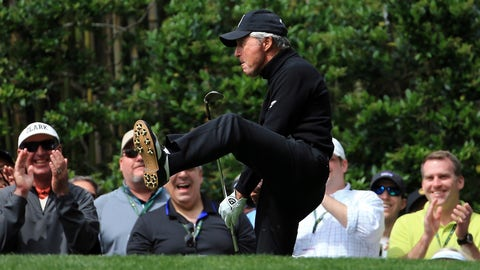 Longest drive by one of the two ceremonial starters — Gary Player