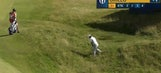 Emiliano Grillo sinks miraculous birdie with chip-in from deep rough at Open Championship