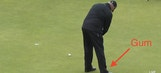 British Open golfer drops gum while putting, picks it up and keeps chewing
