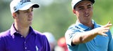 Rickie Fowler and Justin Thomas show off their FedEx Cup playoff mustaches