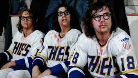The Hanson brothers, hockey