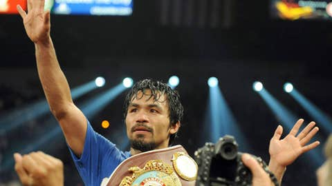 Manny Pacquiao, welterweight (54-3-2, 38 KOs)