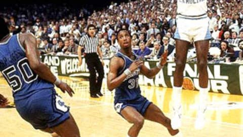 Michael Jordan's shot and Fred Brown's pass