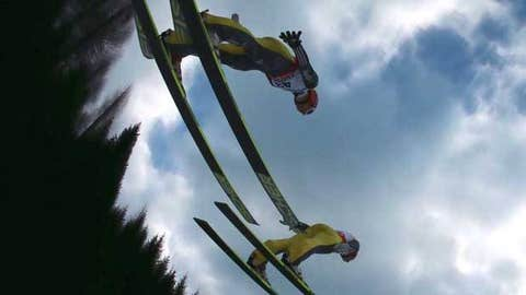 Andreas Wank of Germany in action during the Men's Ski Jumping HS134 Individual Qualification