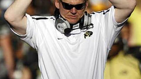 Colorado coach Dan Hawkins
