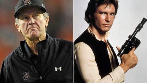 Hero: Steve Spurrier as Han Solo