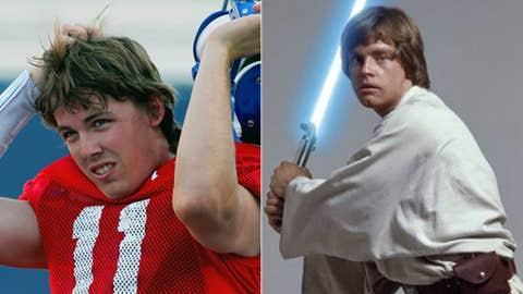 Hero: Kellen Moore (Boise State QB) as Luke Skywalker