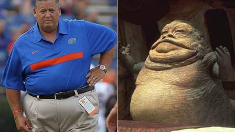 Villain: Charlie Weis (Florida offensive coordinator) as Jabba The Hutt