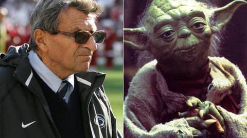 Hero: Joe Paterno as Yoda