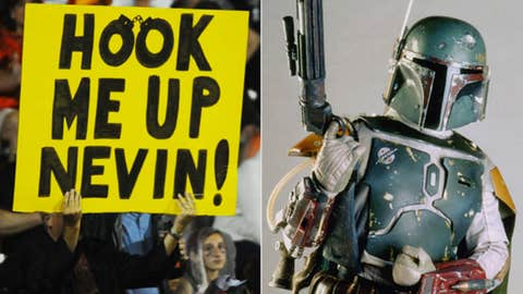 Villain: Nevin Shapiro (Miami booster) as Boba Fett