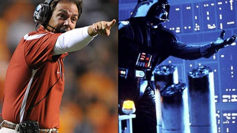 Villain: Nick Saban as Darth Vader