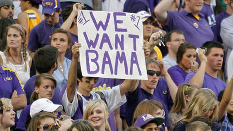 No. 1 LSU at No. 2 Alabama, Saturday, 8 p.m. ET