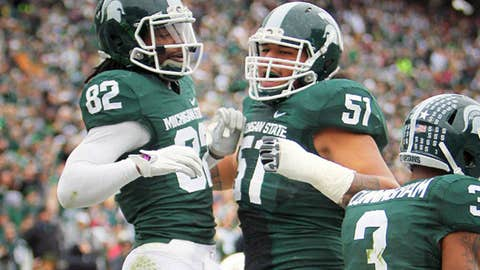 No. 14 Michigan State at Northwestern, Saturday, 12 p.m. ET
