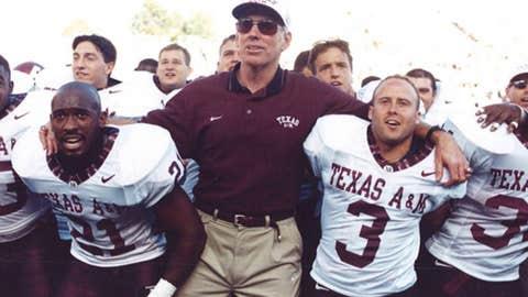 R.C. Slocum, coach, Texas A&M (1989-02)
