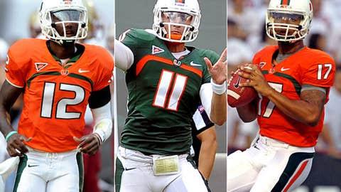 Miami: Jacory Harris to Stephen Morris or Ryan Williams