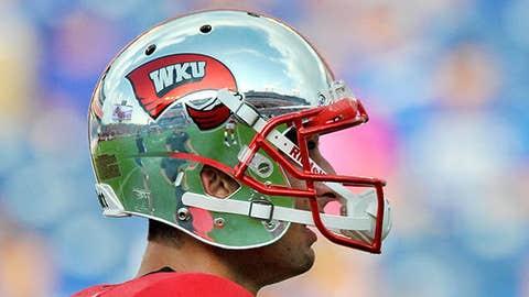 Image: Western Kentucky QB Brandon Doughty and his chrome helmet (©Jim Brown/USA Today Sports)