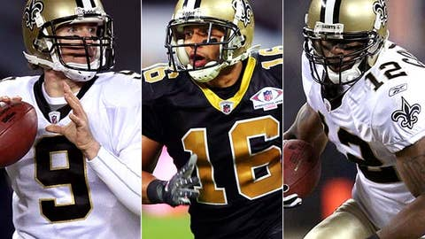 Start Drew Brees, Lance Moore and Marques Colston