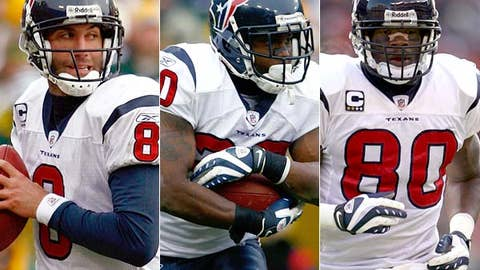 Start Matt Schaub, Steve Slaton and Andre Johnson