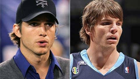 Ashton Kutcher and Kyle Korver