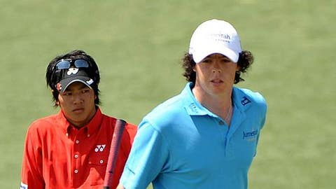 Ryo Ishikawa and Rory McIlroy (Harry How/Getty Images)