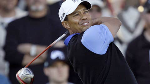 Tiger on the tee