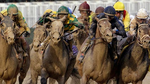 Calvin Borel rides Super Saver(AP Photo/Rob Carr)