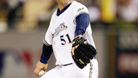 Right-handed closer Trevor Hoffman, Milwaukee (42)