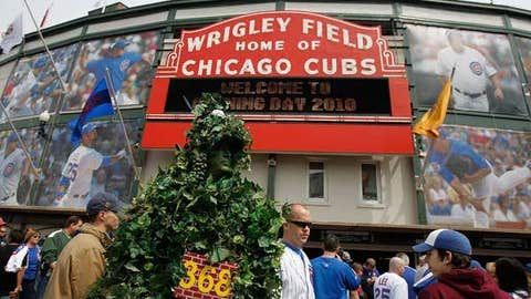 Wrigley Field, home to the Chicago Cubs