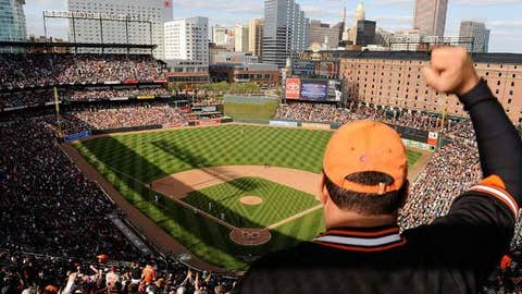 Oriole Park at Camden Yards, home to the Baltimore Orioles