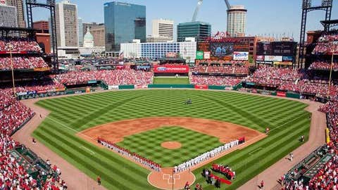 Busch Stadium, home to the St. Louis Cardinals